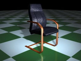 Cantilever base conference room chair 3d preview