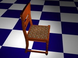 Upholstered dining room chair 3d model preview