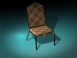 Floral dining chair 3d preview
