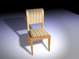 Modern upholstered dining chair 3d preview