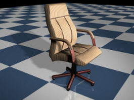 Striped executive office chair 3d model preview