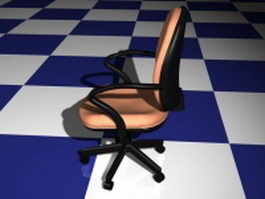 Office task chair 3d model preview