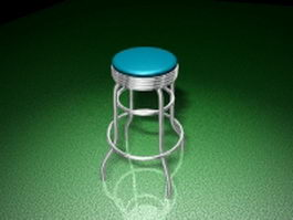 Retro swivel bar stool 3d preview