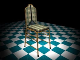 Brass dining chair 3d preview