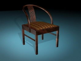 Old world style dining chair 3d preview