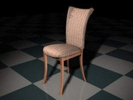 Upholstered dining room chair 3d preview