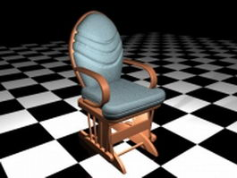 Antique accent chair 3d preview