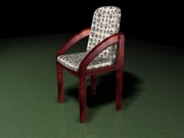 Pub style dining chair 3d preview