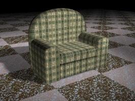 Plaid chair 3d preview