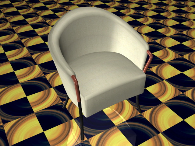Fabric tub chair 3d rendering
