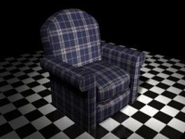 Plaid sofa chair 3d preview