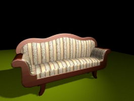 Antique Victorian settee 3d preview