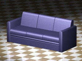 Three cushion sofa 3d preview
