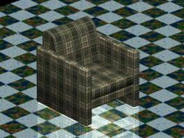 Plaid club chair 3d preview