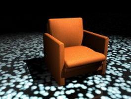 Orange club chair 3d preview