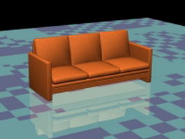 Orange sofa couch 3d preview