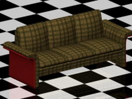 Plaid couch furniture 3d preview