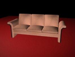 3 cushion sofa 3d preview