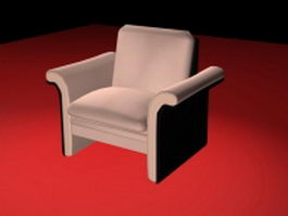 Pink club chair 3d preview