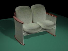 Antique settee sofa 3d preview