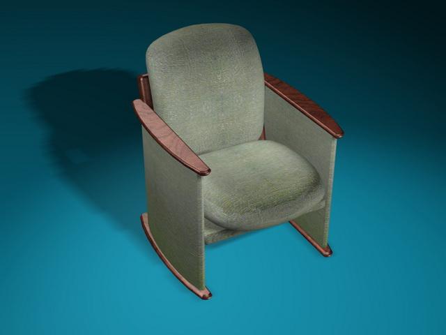 Antique armchair 3d rendering