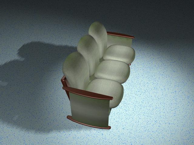 Antique settee furniture 3d rendering