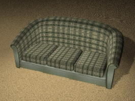 Plaid settee 3d preview
