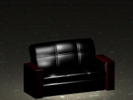 Classic leather sofa 3d preview