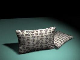 Floral sofa pillows 3d preview
