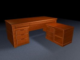 Executive office desk furniture 3d preview