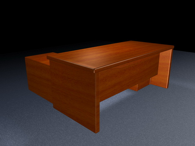 Executive office desk furniture 3d rendering