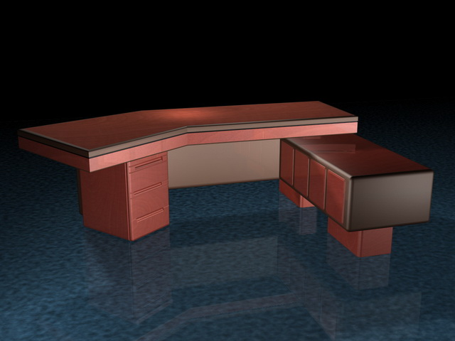 High end executive desks 3d rendering