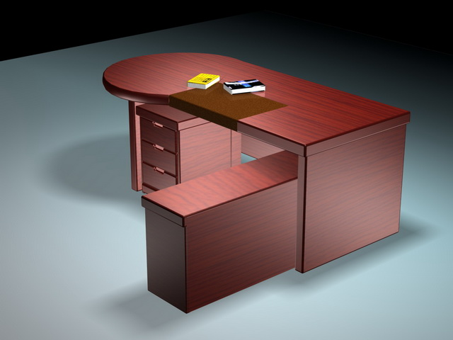 Modern executive desk sets 3d rendering