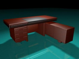 Office desk with storage 3d preview