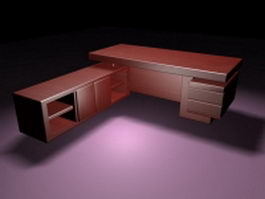 Executive desk suites 3d preview