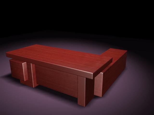 Executive desk suites 3d rendering