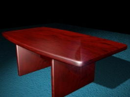 Redwood conference table 3d preview