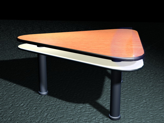 Triangle conference table 3d rendering
