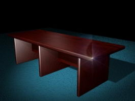Rectangle conference table 3d preview