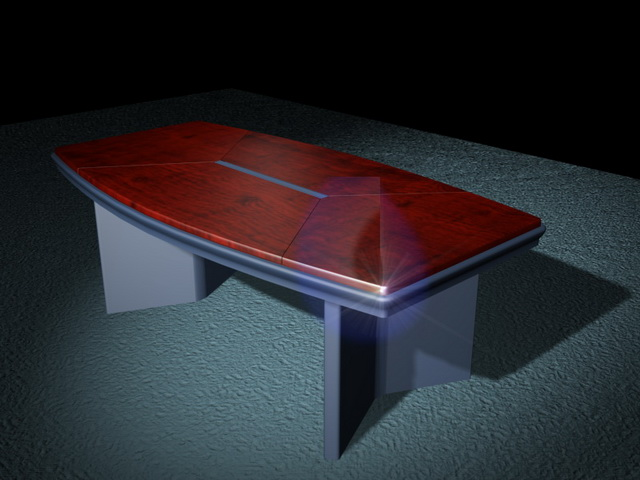 Modern conference table 3d rendering