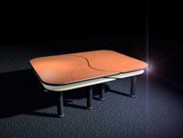Small office conference table 3d model preview