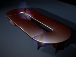 Executive conference table 3d preview