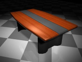 Modern conference table 3d model preview