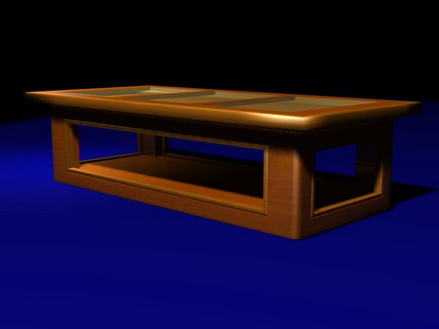 Display top coffee table 3d rendering