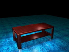 Solid wood coffee table 3d preview