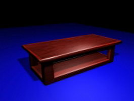 Asian style coffee table 3d preview