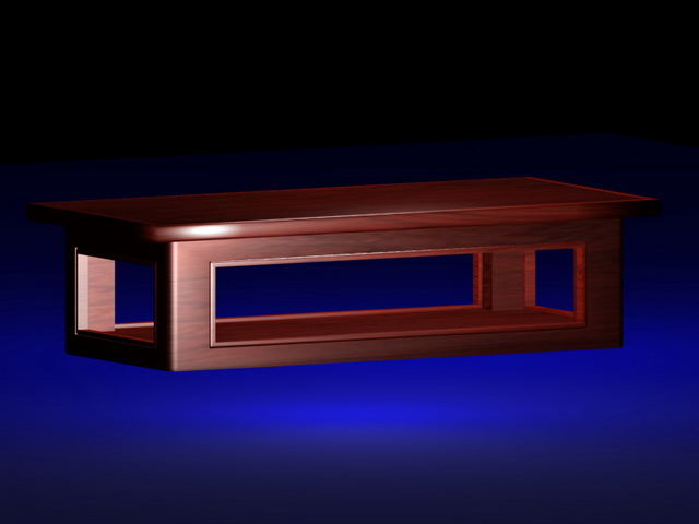 Asian style coffee table 3d rendering