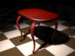 Antique clawfoot dining table 3d preview