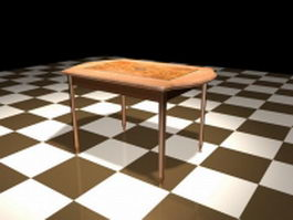 Painted dining room table 3d preview
