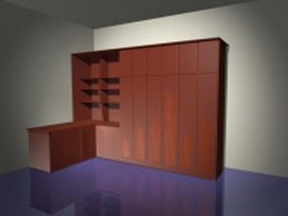 Office wall storage systems 3d preview